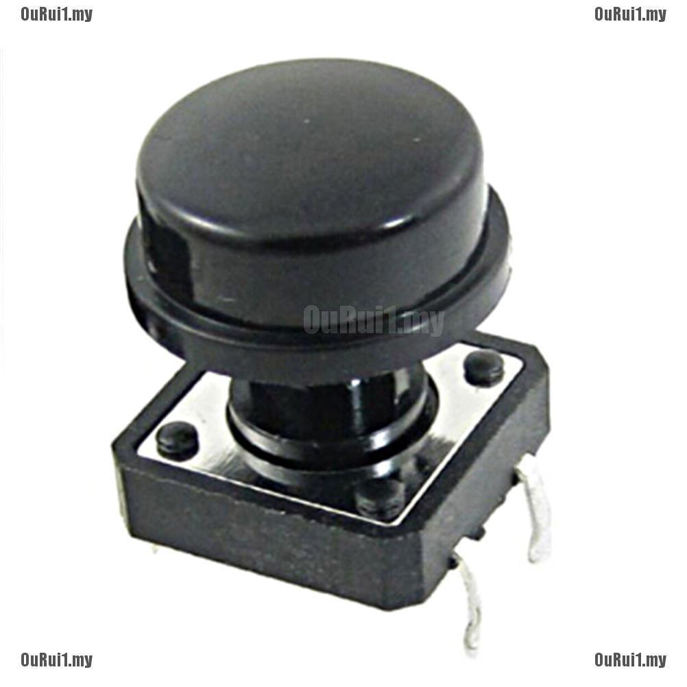 10pcs Momentary Tact Tactile Push Button Switch 4 Pin w Cap FP