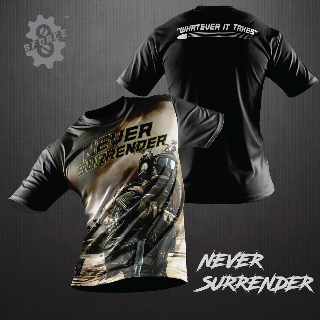 Tactical T-Shirts Jersey Microfiber - 3 (READY STOCK) Baju Tacttical SWAT