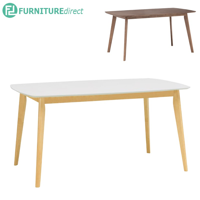 AIMON solid rubberwood Scandinavian style dining table/ meja makan/ meja kayu