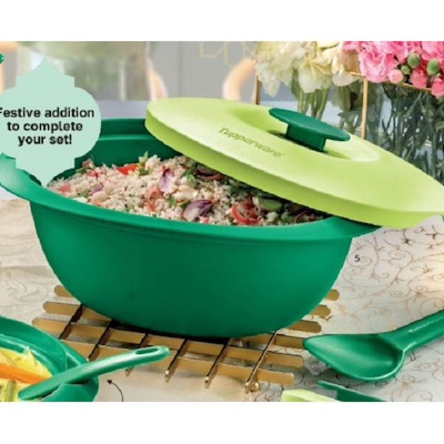 Tupperware Blossom Rice Server with Serving Spoon (1) 3.0L