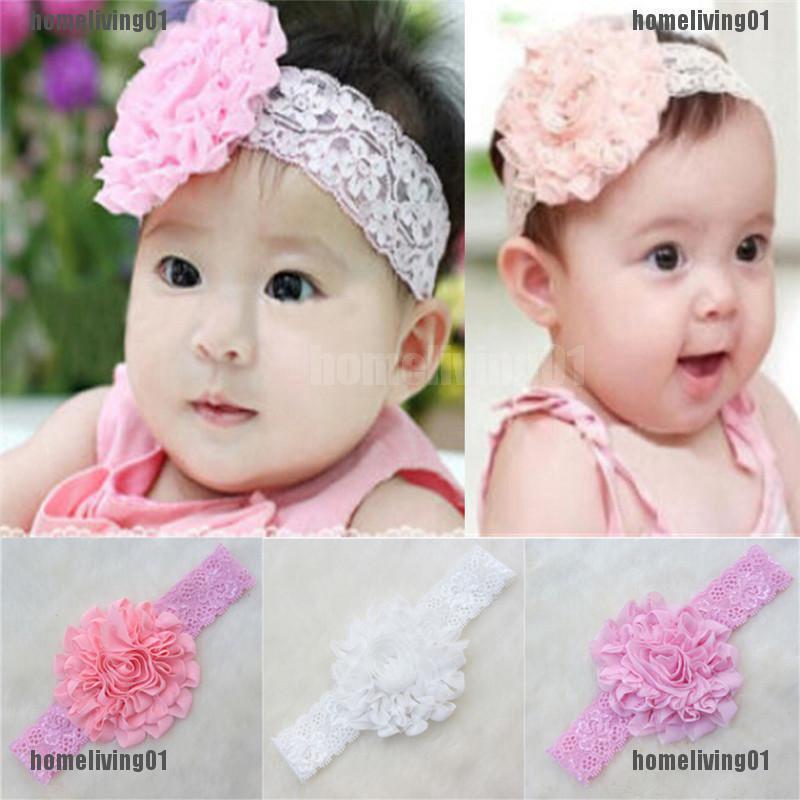 796dfaf7c6dff Lovely Newborn Baby Kids Lace Flower Headwear Hair Decor Headdress Headband  | Shopee Malaysia