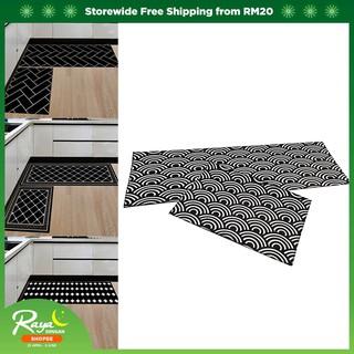 Kitchen 2pcs/set Floor Mat Geometric Pattern Area Rugs Carpets