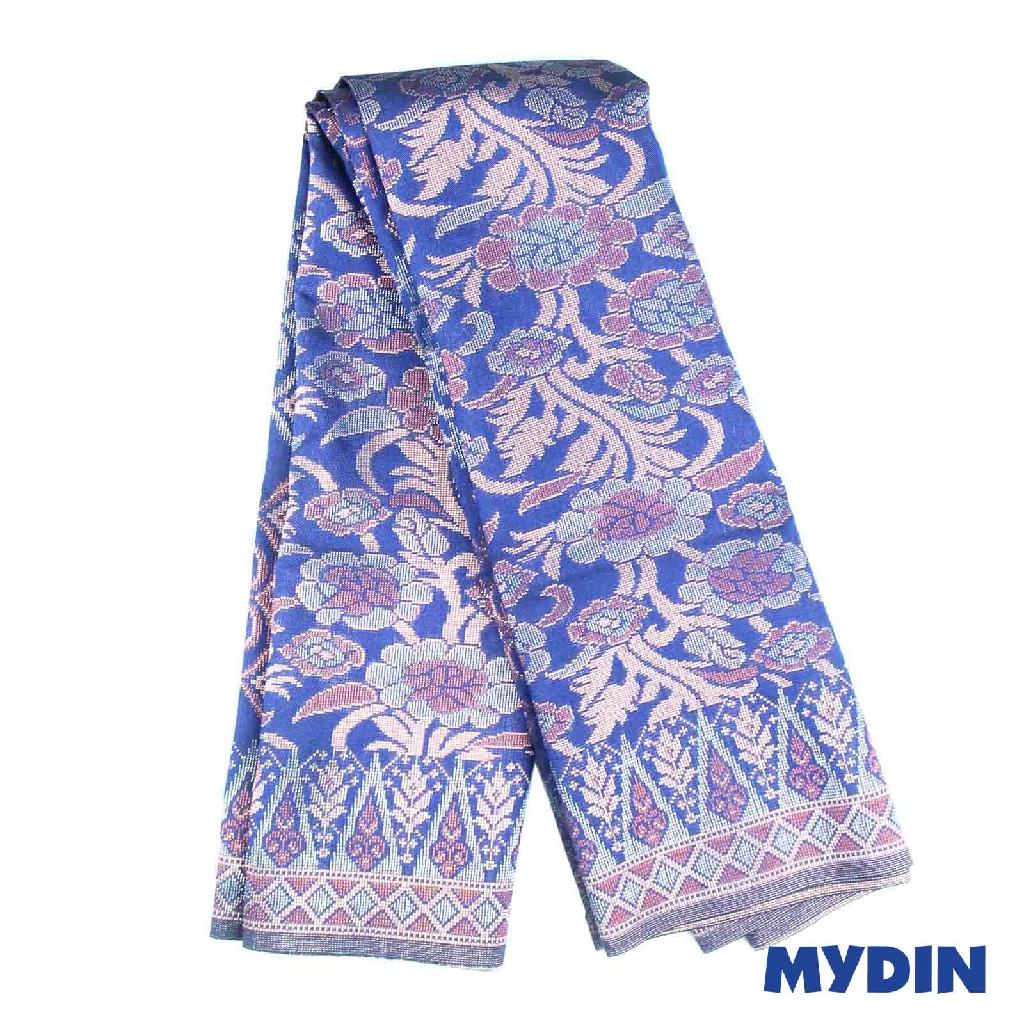 Handmade Songket Sampin - Blue Motifs ( 2m x 36 Inch ) 0818RIKTCPD14A #Raya