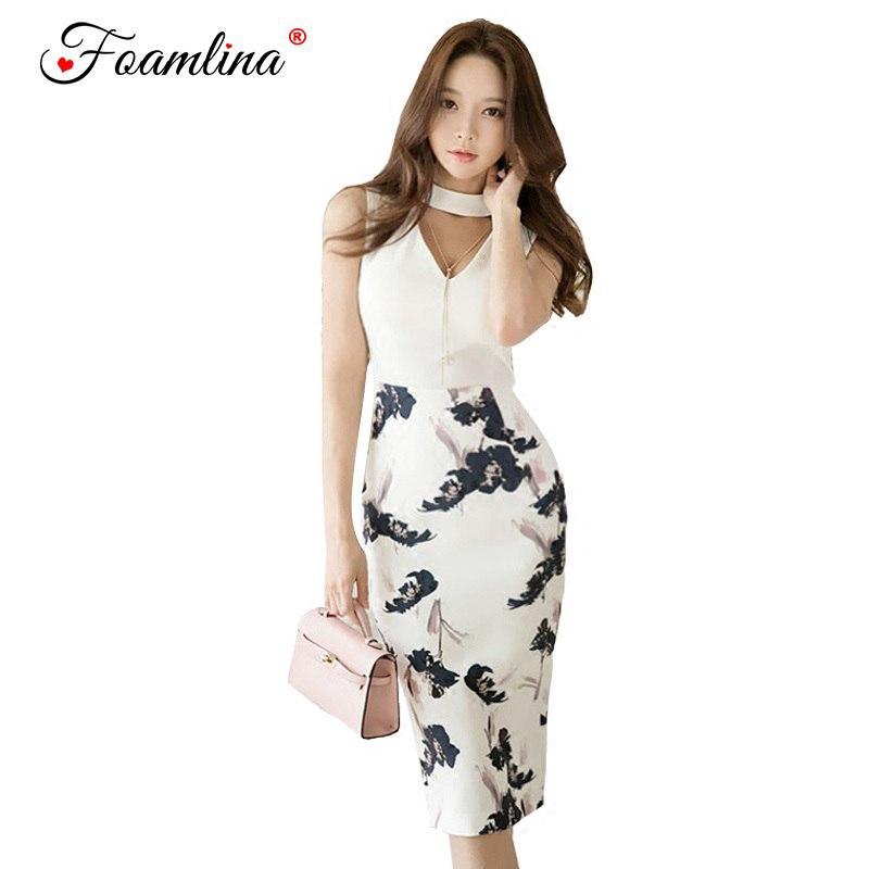 d2b5ff7dbf757 Neck Crop Top + Floral Print Pencil Skirt Suits Office Lady Work 2 Pieces  Set