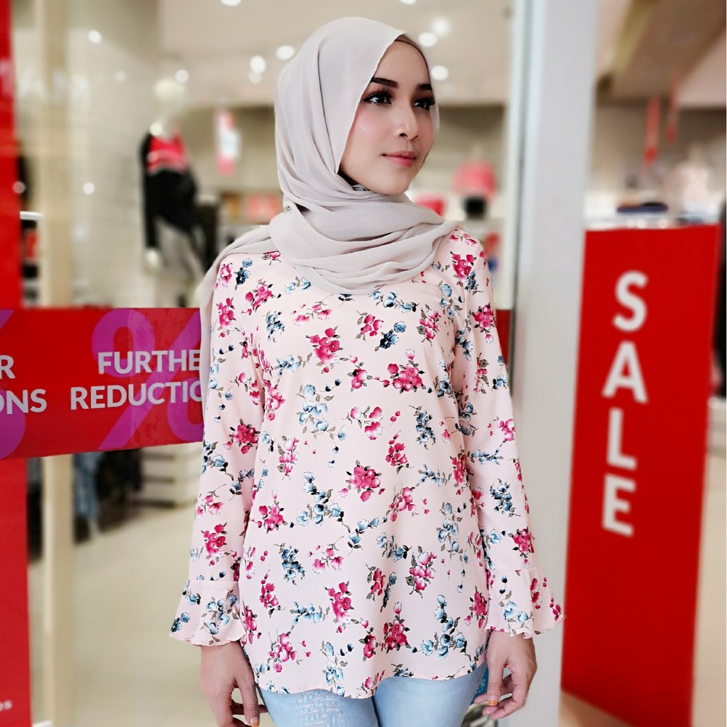 628561d035 korean top - Muslimah Blouse Prices and Promotions - Muslim Fashion Feb  2019