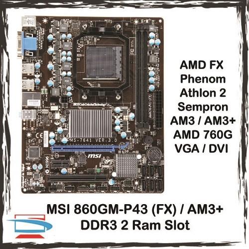 MSI 860GM-P43 (FX) Socket AM3 AM3+ 760G DDR3 AMD Motherboard