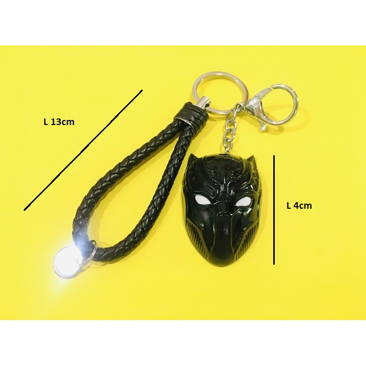 Avengers Metal Steel Keychain Face Mask Black Panther