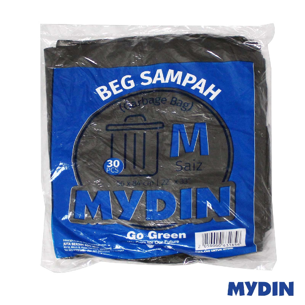 Mydin Garbage Bag - M (30 Pcs)