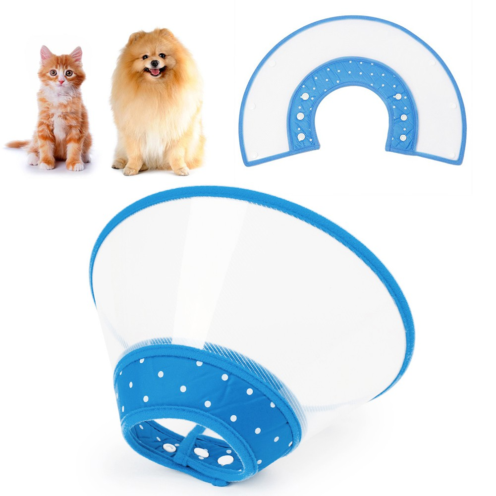 Anti-Bite Protector Safety Cone Dog Cat Puppy Blue Pet Neck Collar Cover 4