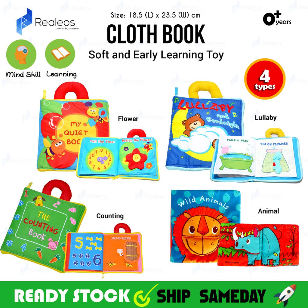 Logical Soft 3d Baby Cloth Book Newborn Early Educational Quiet Book Infant Cognitive Can Bite Reading Matter Ring Paper Rattles Book A Complete Range Of Specifications Toys & Hobbies Baby Rattles & Mobiles