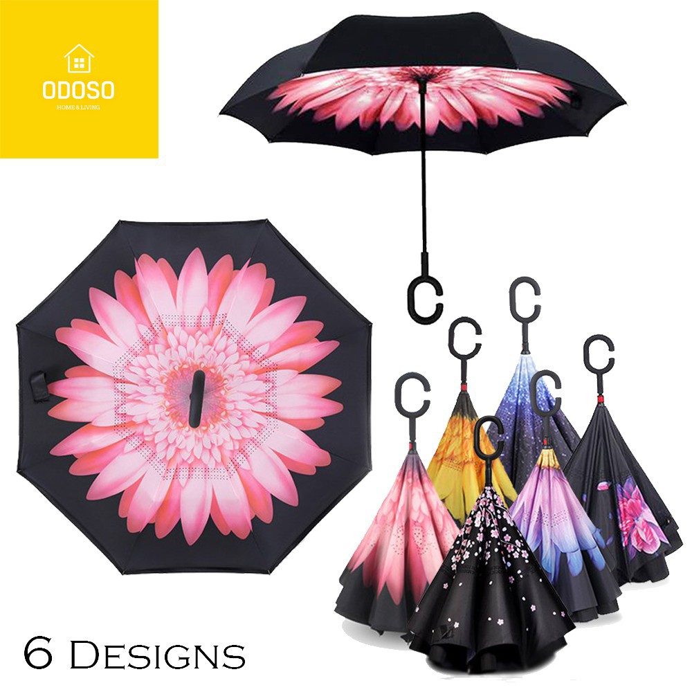 32b28982237d 3rd Gen Premium Quality Inverted Reverse Double Layer Umbrella with C Hook