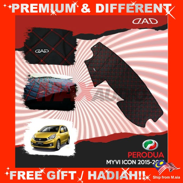 [FREE Gift] PERODUA MYVI ICON 2015 DAD GARSON VIP Non Slip Dashboard Cover Mat