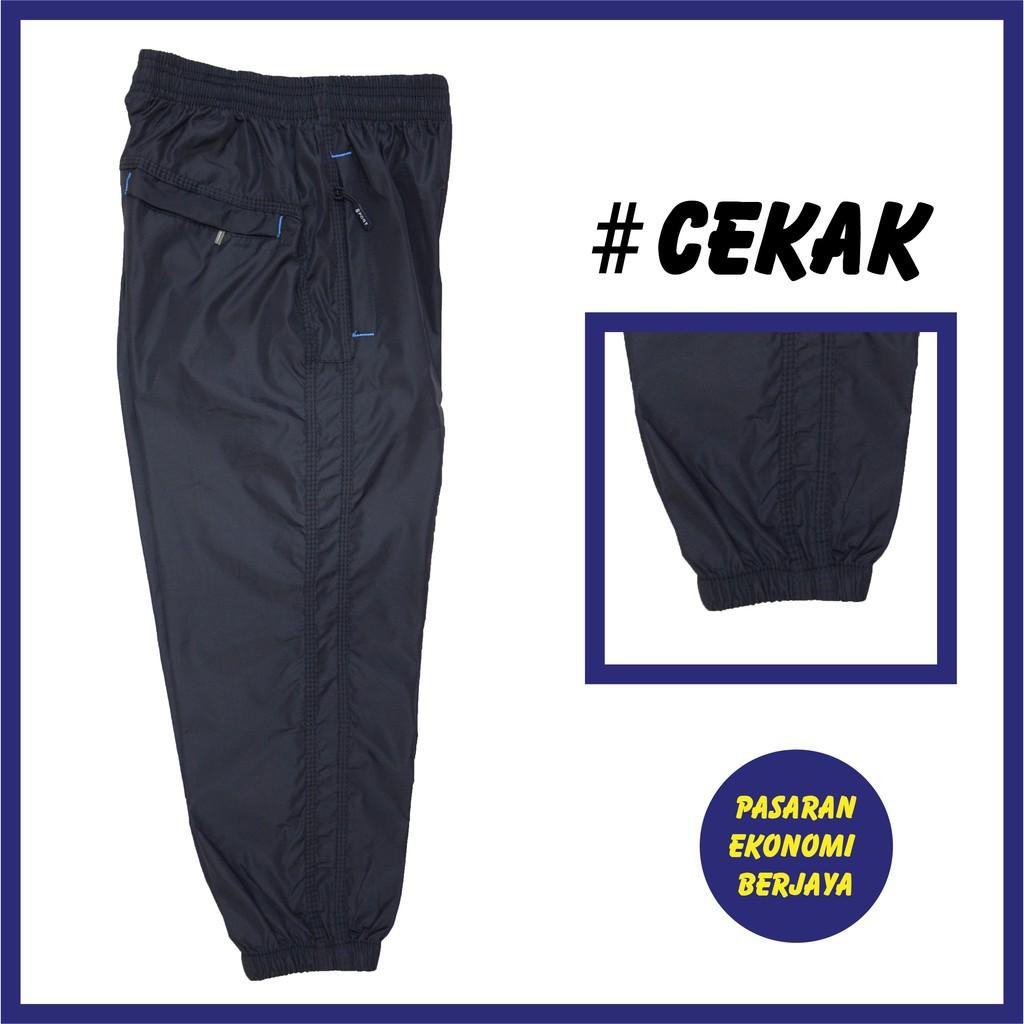 SELUAR TRACK HITAM 27071# CEKAK/ TRACK BOTTOM UNISEX/ TRACK SUIT/ SELUAR TREK/ SELUAR TRACK SEKOLAH/ SELUAR SUKAN