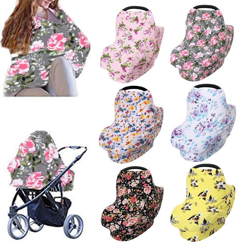 DE❀ Cotton Baby Breastfeeding Towel Safety Seat Cushion Shopping Cart Mat Newborn Stroller Cover