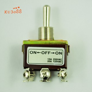 Pack of 2 SPDT 3-Position On//Off//On Toggle Switch Metal AC 240V 15A 3-Pin Screws