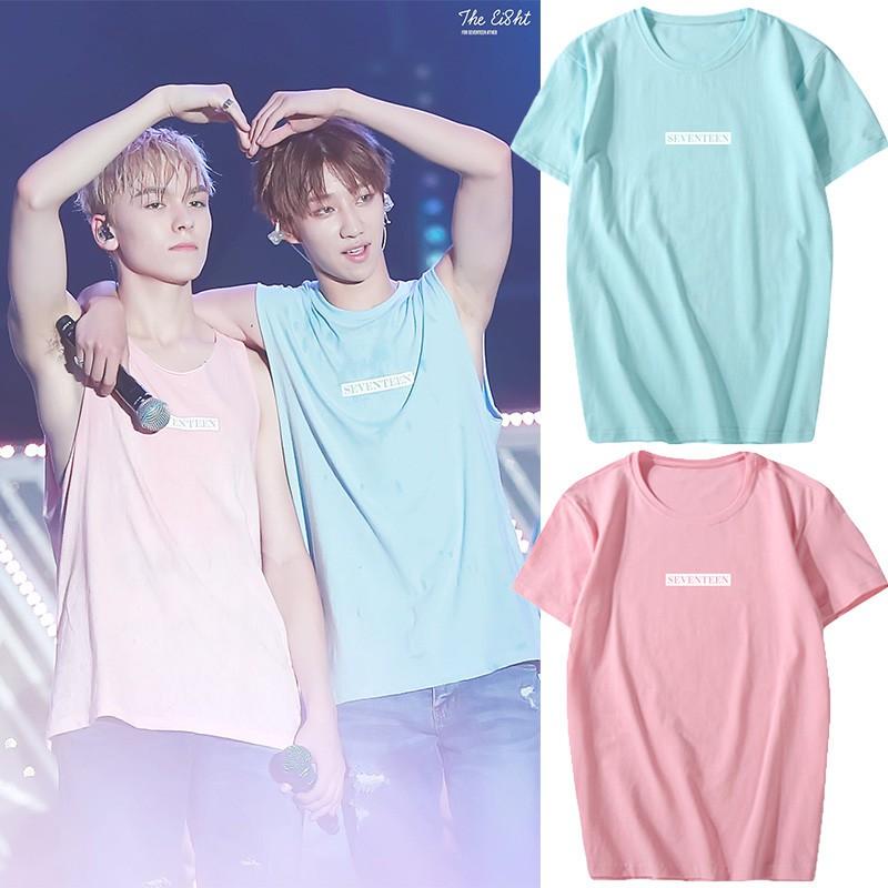 MPOWER KPOP Korean Fashion Seventeen 2019 Album Concert 17 Cotton Tshirt  K-POP