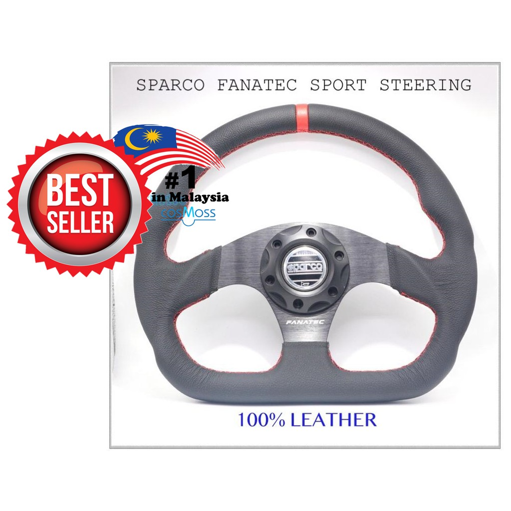 Sparco Fanatec Leather ClubSport Steering Wheel 330mm