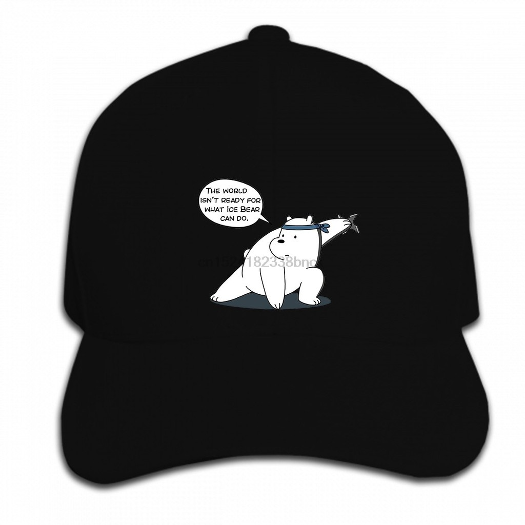 Print Custom Baseball Cap Hip Hop Men Ice Bear The world isn Women Hat  Peaked cap