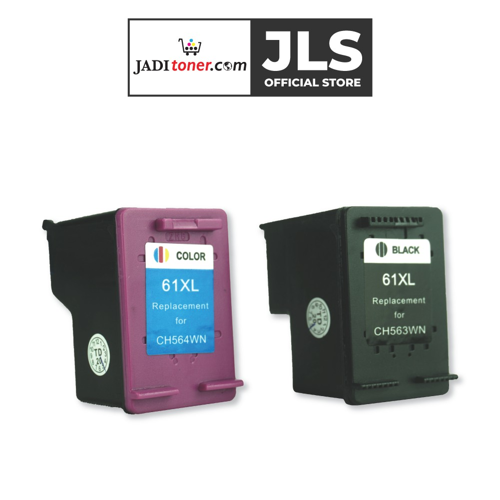 Remanufactured HP 61 XL High Yield Combo Ink For Use In DeskJet 1000 1050 2000 2050 3000 3050 2010 2060 - Jadi Life