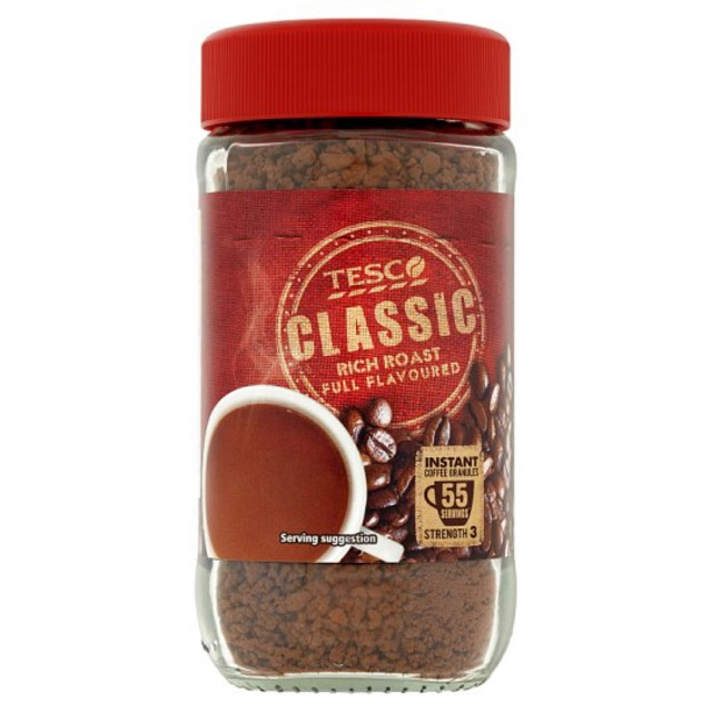 Tesco Classic Rich Roast Full Instant Coffee Granules 100g | Shopee Malaysia