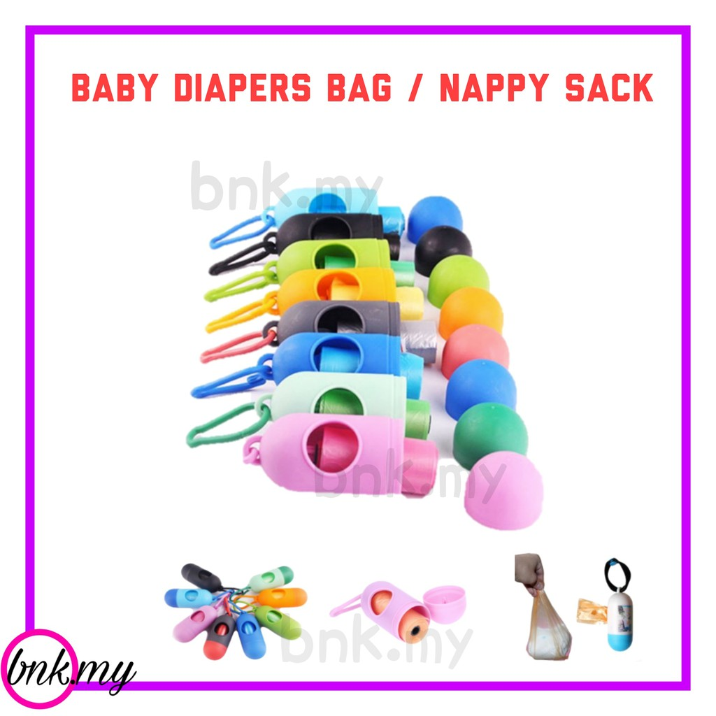 PORTABLE BABY DIAPERS BAG NAPPY SACK DISPOSABLE GARBAGE