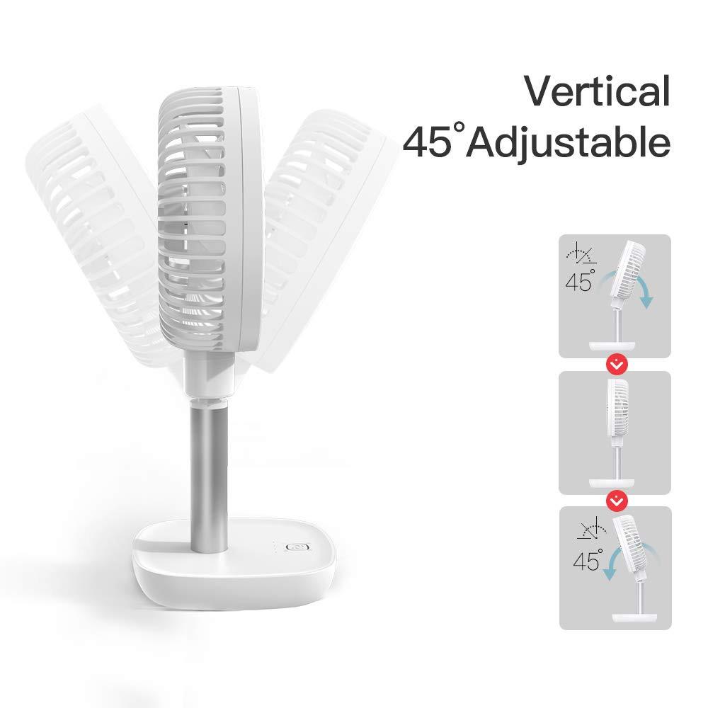YOOBAO F1 4000mAh Portable Rechargeable Desk Fan Low Noise 4 ...