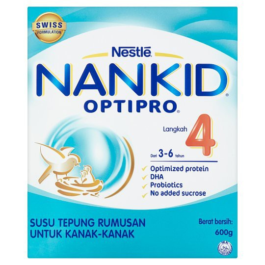 Hot Deal!! Nestle NanKid Optipro Step 4 | 3*600g Exp: Dec 2020