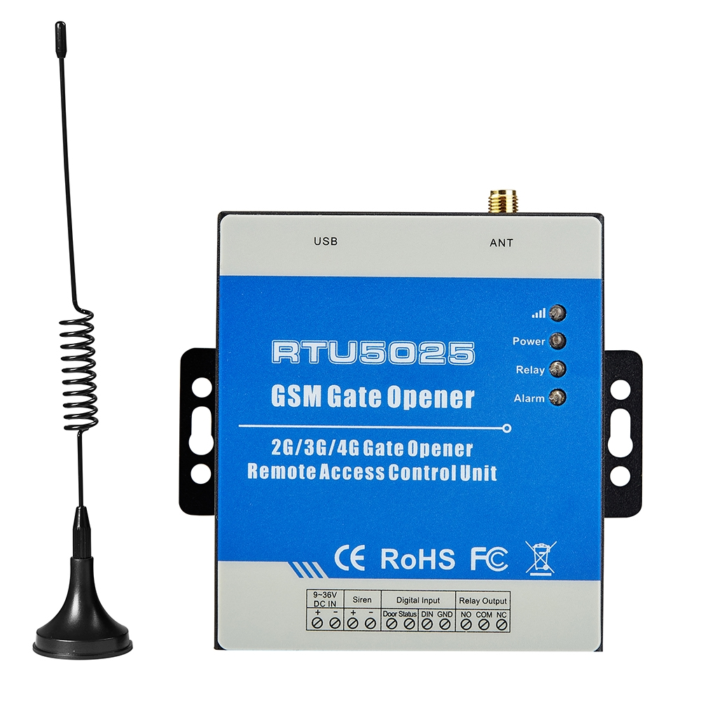 RTU5025 On Off By Mobile Phone Door Opener SMS Remote Switch GSM 3G Gate  Operator Wireless Portable Alarm