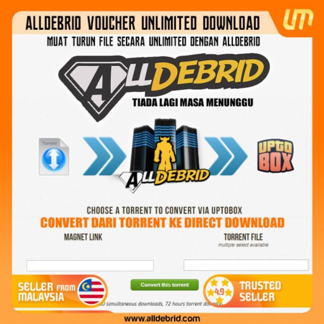 Alldebrid Premium Code (90 Days /180 Days /360 Days) or with