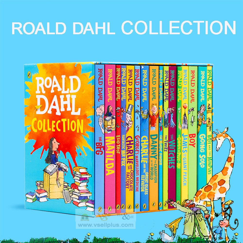 Ready Stock- Roald Dahl Collection 16 Books Set