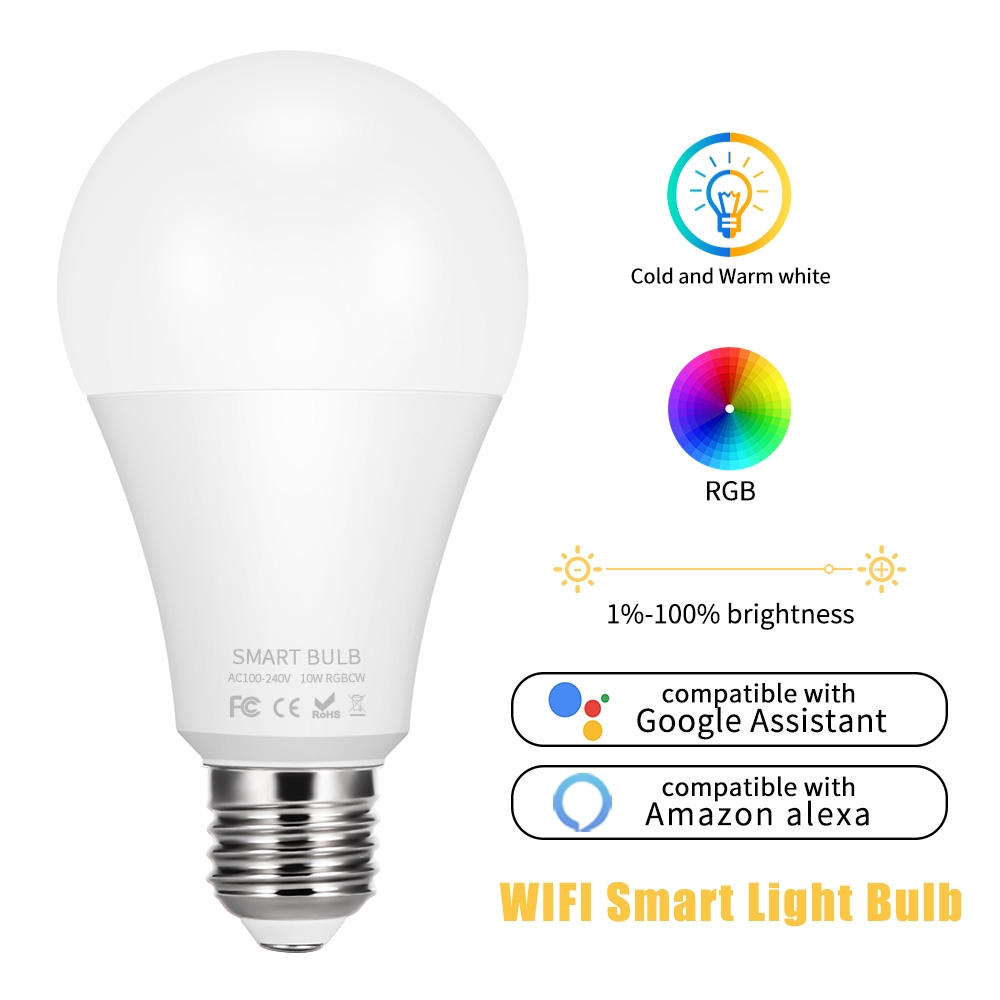 Sunrise Wake Up Light /& Dimmable Night Light FL-WIFI-7W Smartphone Controlled Multicolored Color Changing Lights Flux WiFi Smart LED Light Bulb Compatible with Alexa Google Home Assistant /& IFTTT