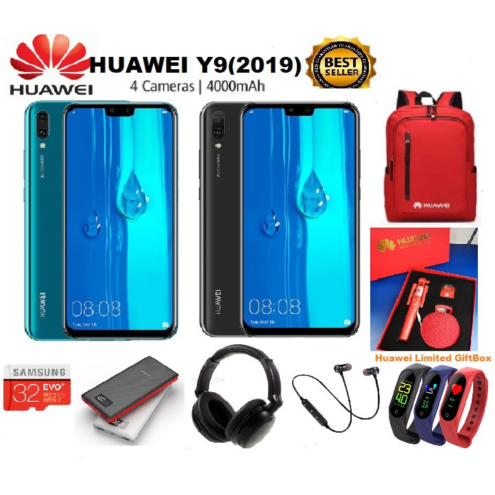 Huawei Y9 (2019) [4GB RAM +64GB ROM] 🎁 13 Free Gifts 🎁 READY STOCK
