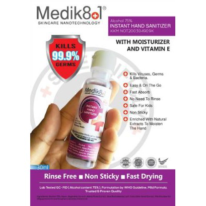Medik Hand Sanitizer 30ml