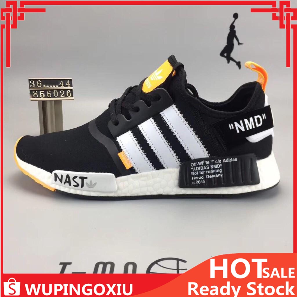 ▸Oriinal OFF WHITE × ADIDAS NMD A OW Boost NAST Men and women sports Running Shoes Size:36 44