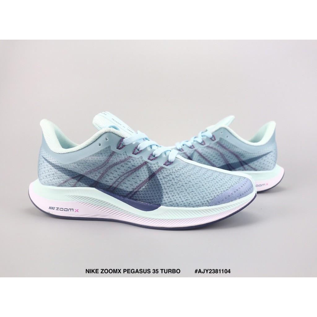 buy popular 31cf4 056d7 ??Ready Stock?? NIKE ZOOMX PEGASUS 35 TURBO Mesh running shoes Light blue