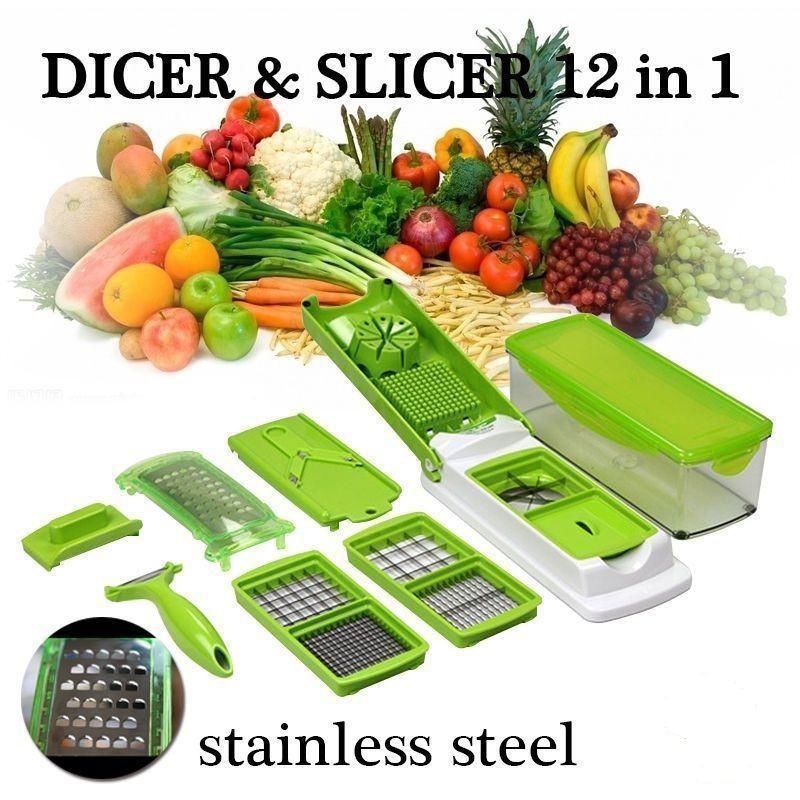 1x Super Slicer Plus Vegetable Fruit Peeler Dicer Cutter Chopper Nicer Grater