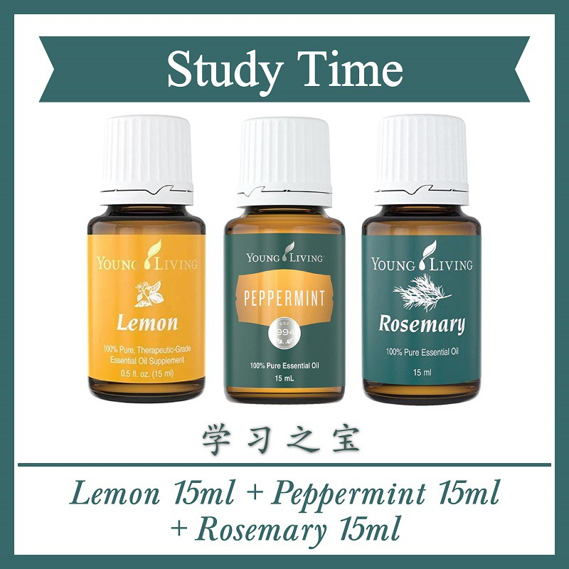 Study Time Young Living Lemon Peppermint Rosemary