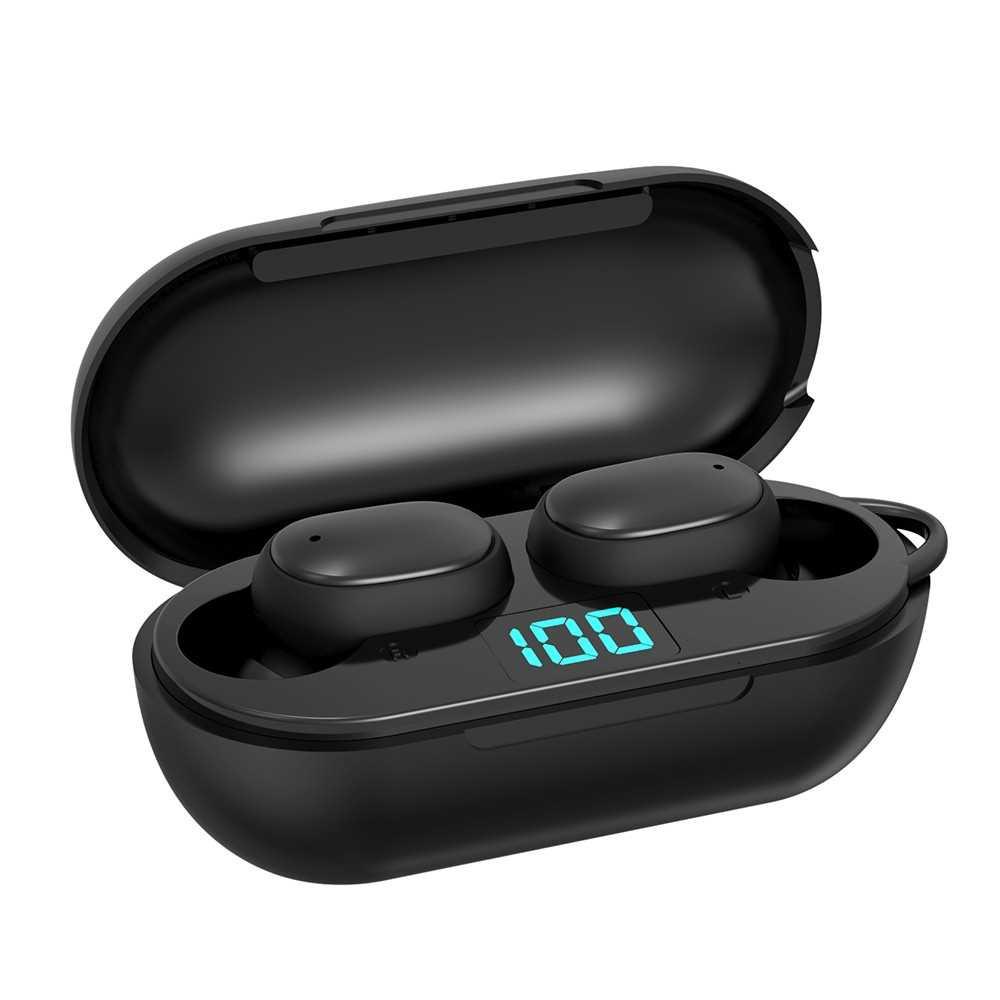 H6 TWS True Wireless Earbuds In-Ear Headphones IPX4 Waterproof 40mAh BT5.0 Noise Cancellation Binaural Audio Hi-Fi Soun