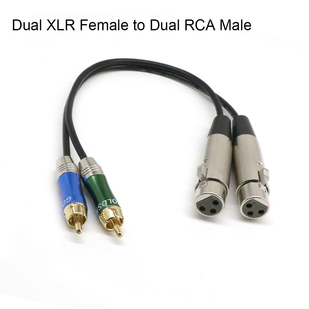 115ft 35cm 1 Xlr Male To 2 Rca Y Splitter Patch Audio Cable Wiring Microphone Shopee Malaysia