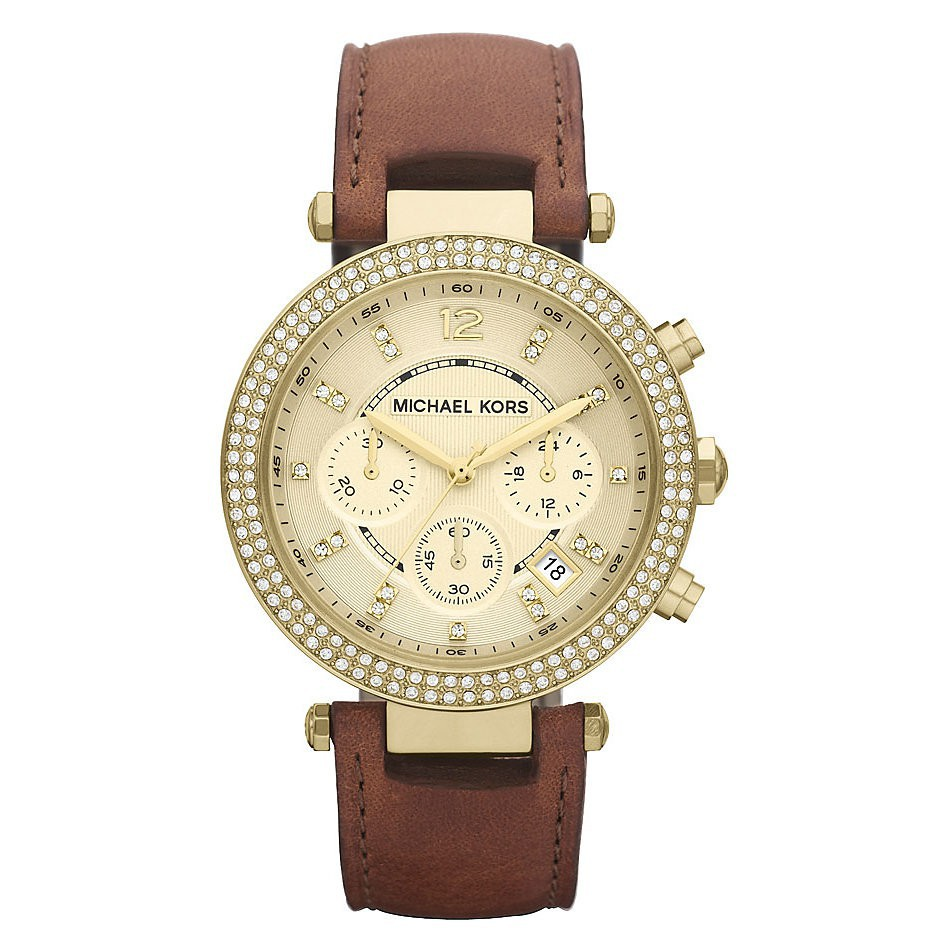 51b978fccb92 Michael Kors Women s Parker Chronograph Crystal Bezel Watch MK2293 Original