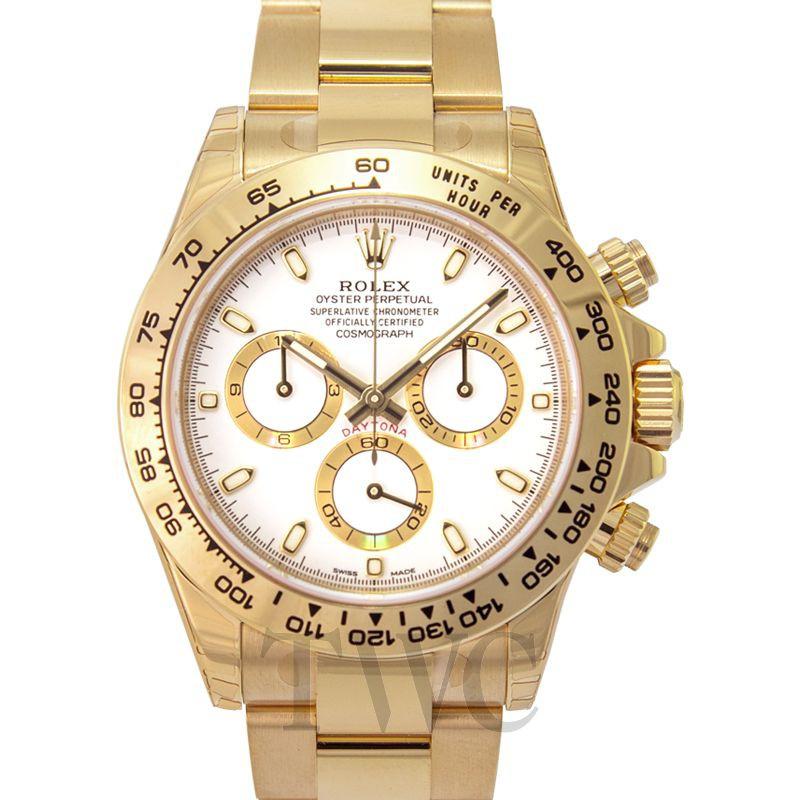 Rolex Cosmograph Daytona Cosmograph Daytona 18ct Yellow Gold Automatic White Dial Men\'s Watch