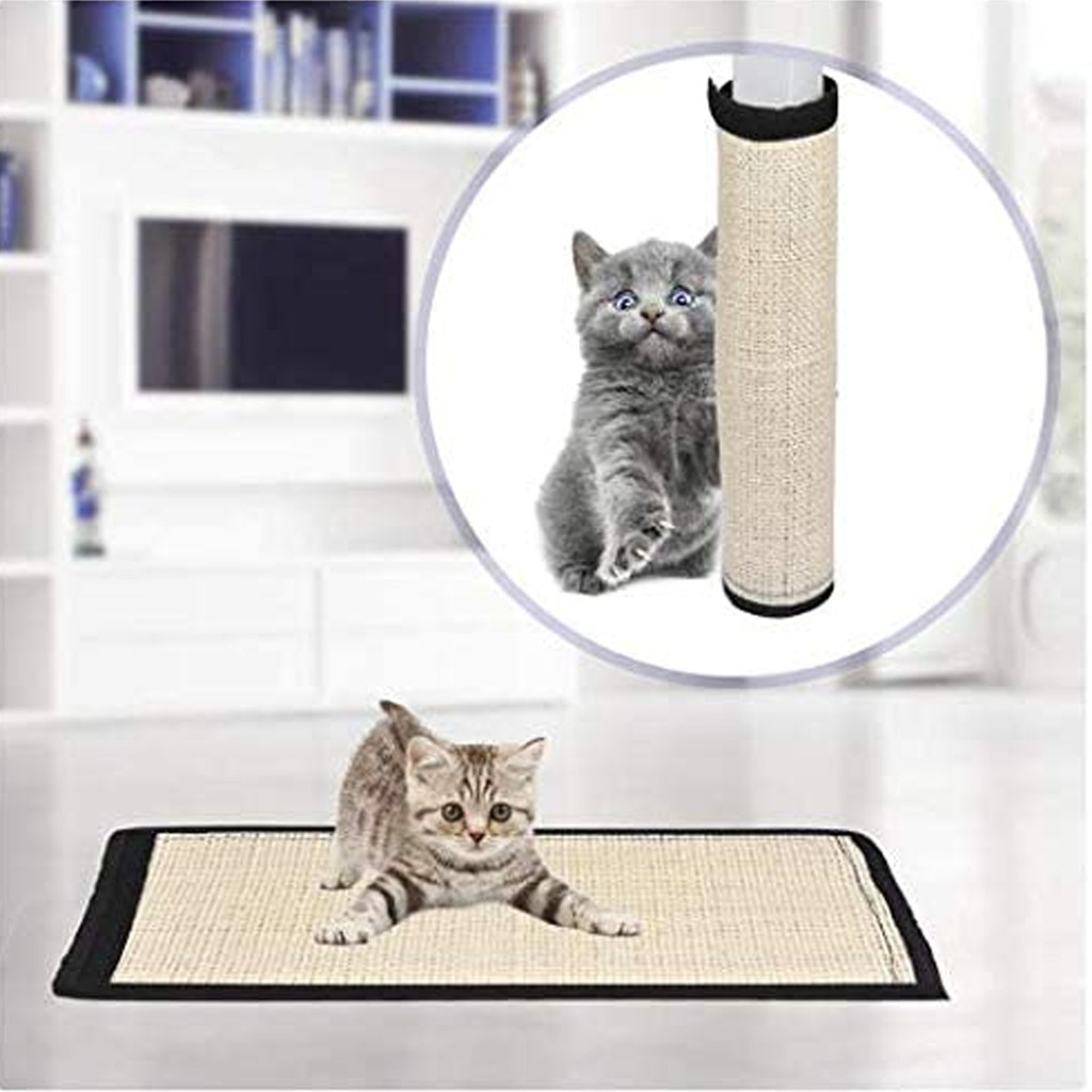 3 in 1 set Cat Scratching Material Mat Replacement Natural Sisal Fabric Mat with Velcro Protecting Furniture Sofa Chair