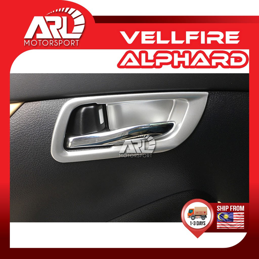 Toyota Alphard / Vellfire (2015-2020) AH30 AGH30 Inner Handle Cover Ring Silver Car Auto Acccessories ARL Motorsport