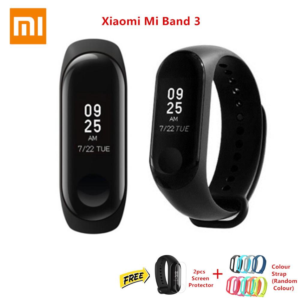 Xiaomi Mi Band 3 Oled English Ui Smart Watch Wristband Waterproof 2 Bonus Screen Guard Touch Shopee Malaysia