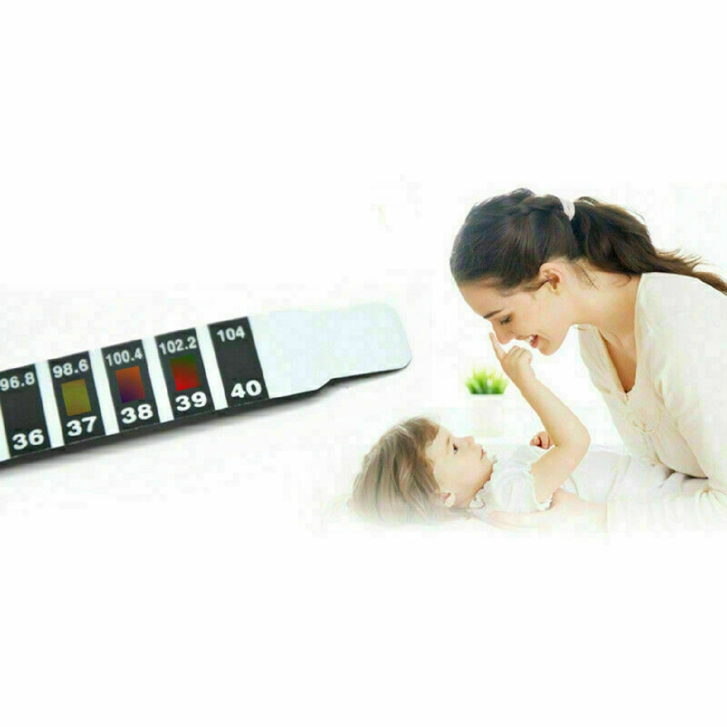 10X FOREHEAD THERMOMETER FEVER SCAN STRIP BABY ADULT CHILD KIDS TEMPERATURE