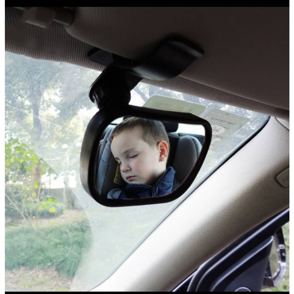 Car baby rearview mirror small rearview mirror auxiliary mirror observation mirror child baby sucker rearview mirror