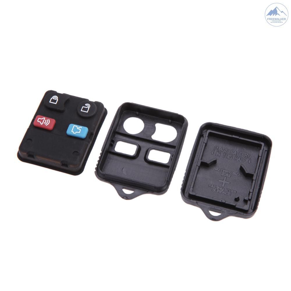 New Keyless 4 Button Remote Shell Button Pad Key Fob Housing Case for Ford
