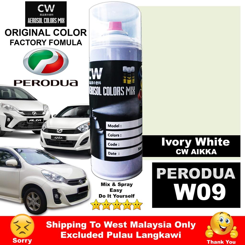Ivory White W09 Perodua Myvi Axia Alza Viva Touch Up Paint Aikka Cw Spray 370ml 补漆 Putik Perodua Shopee Malaysia