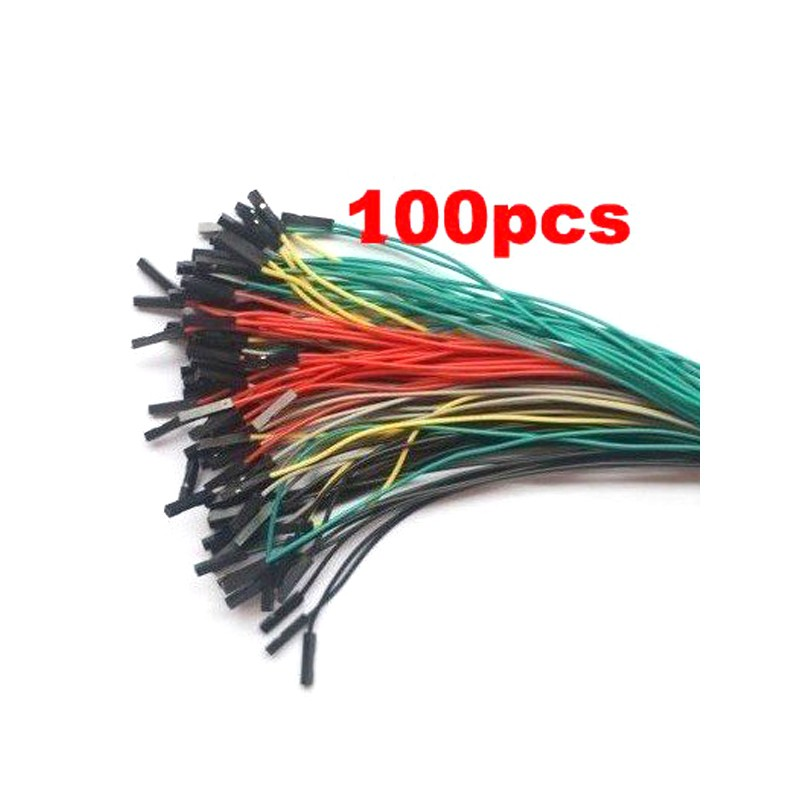 100pcs 200mm 1p to 1p female to female jumper wire Dupont cable for Arduino 20cm