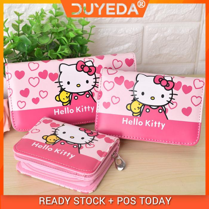 8f3b7706b ♥♥HelloKitty wallet purse leather wallet ladies and ladies clutch bag wallet  child wallet change card package   Shopee Malaysia